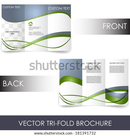 Tri-fold corporate business store brochure/design for print, presentation or publishing - stock vector