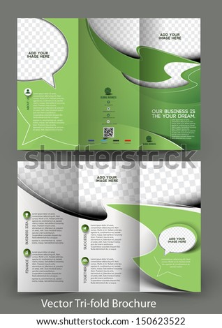 Tri-Fold Corporate Business Store Mock up & Brochure Design - stock vector