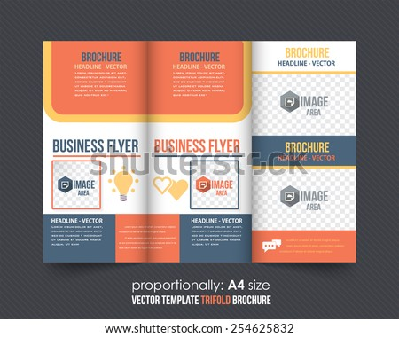 Tri-fold Design and Brochure, Catalog Vector Business Concept Template