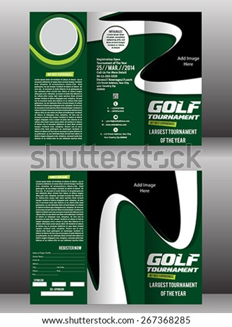golf flyer templates