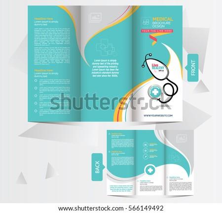 tri fold medical brochure design template frontのベクター画像素材