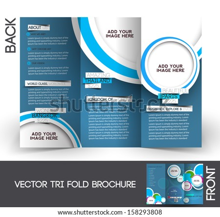 Trifold Travel Mock Brochure Design Stock Vector 158293808 ...