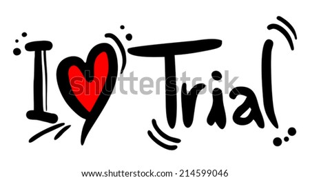 Trial love - stock vector