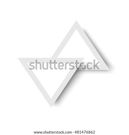 triangle arrow clean design, vector illustration