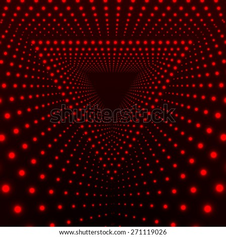 Triangle Border with Light Effects. Vector illustration for your party flyers. - stock vector