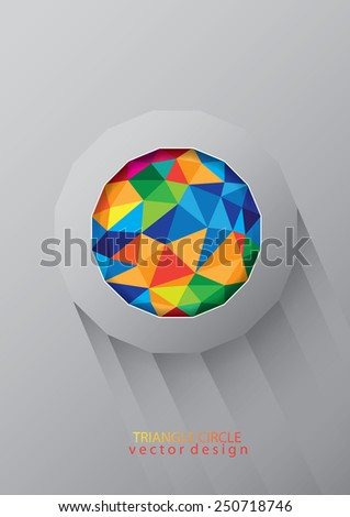 Triangle color abstract vector design