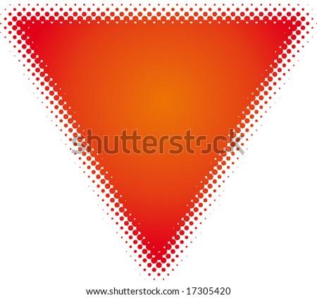 triangle (dots design series) - stock vector