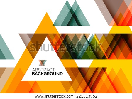Triangle geometric concept, abstract background - stock vector