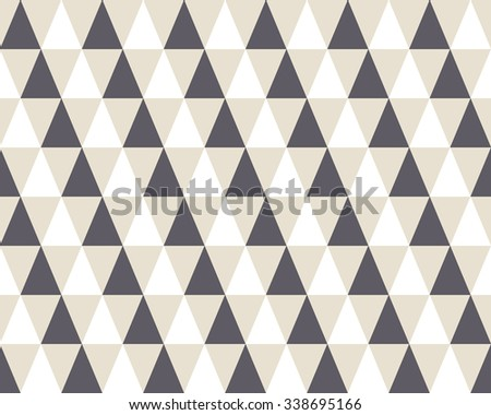 Triangle geometric seamless pattern 3D. Fashion graphic background. Modern stylish texture. Optical illusion template. Can be used for prints, textiles, wrapping, wallpaper, website, blog etc. VECTOR - stock vector