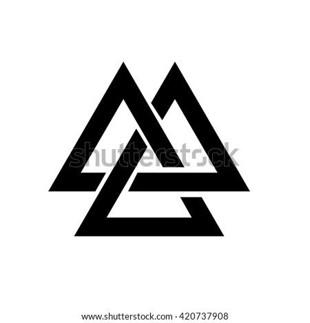 Triangle Logo Valknut Viking Age Symbol Stock Vector 420737908