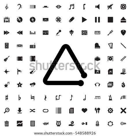 triangle musical instrument icon illustration isolated vector sign symbol