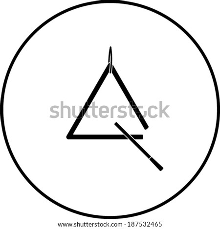 Triangle Musical Instrument Symbol Stock Vector 187532465 Shutterstock