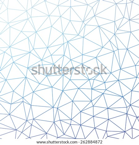 Triangle pattern background in line. Colorful mosaic banners. Vector illustration - stock vector