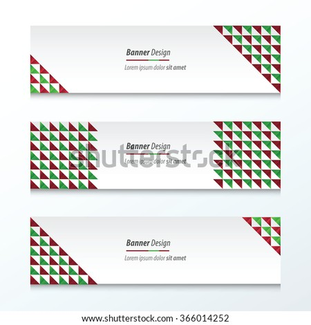 Triangle pattern  Christmas Styles - stock vector