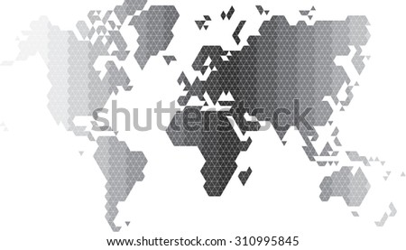 Triangle polygonal world map vector illustration stock vector triangle polygonal world map vector illustration eps 10 gumiabroncs Gallery