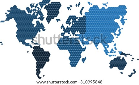 Triangle polygonal world map vector illustration stock vector triangle polygonal world map vector illustration eps 10 gumiabroncs Image collections