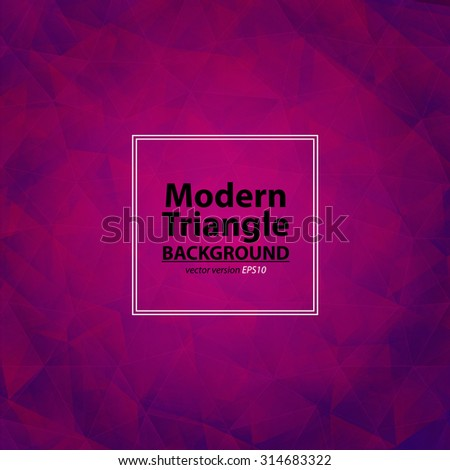 Triangle purple background with light. Abstract Diamond pink and violet colors  pattern. Can be use for cover CD disc, catalog, flyer, poster, brochure and other print production. Vector version - stock vector
