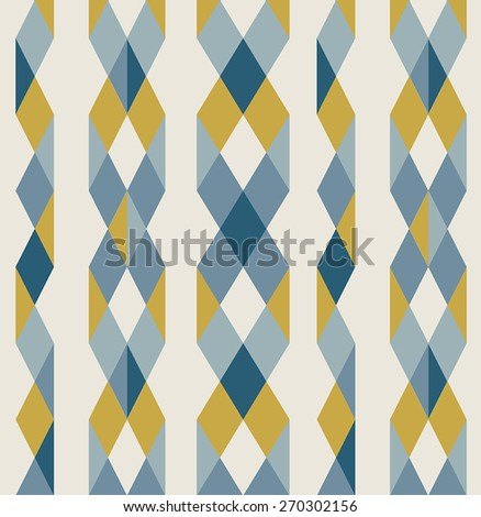 Triangle Ribbon Pattern - stock vector