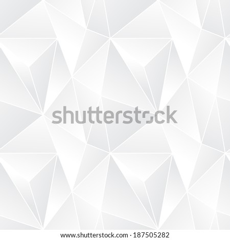 Triangle seamless abstract vector pattern - geometric mosaic poligonal modern background - stock vector