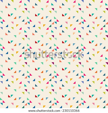 Triangle seamless pattern. Geometric background. - stock vector