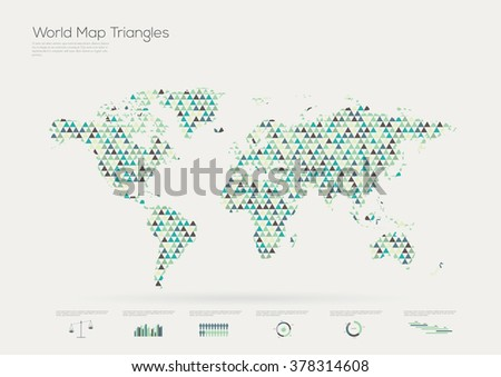Triangle shape world map infographic vector vector de stock378314608 triangle shape world map infographic vector illustration gumiabroncs Images