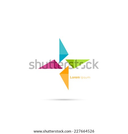 Triangle social beauty  vector logo icon. for media, mobile, public groups, alliances, environmental, mutual aid associations and other social welfare agencies.  - stock vector
