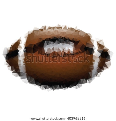 Triangle style illustration of an american football - stock vector
