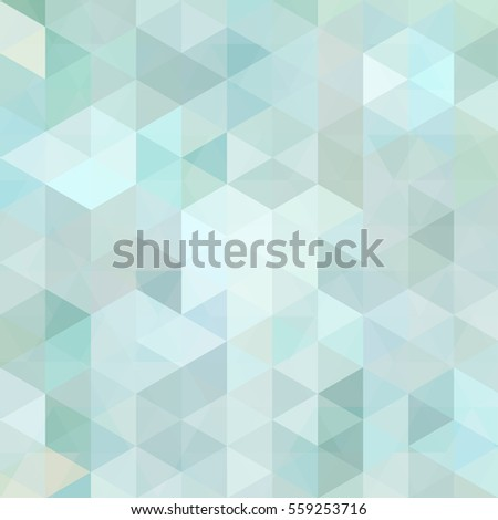 Triangle vector background.  Can be used in cover design, book design, website background. Vector illustration. Pastel blue, white colors.