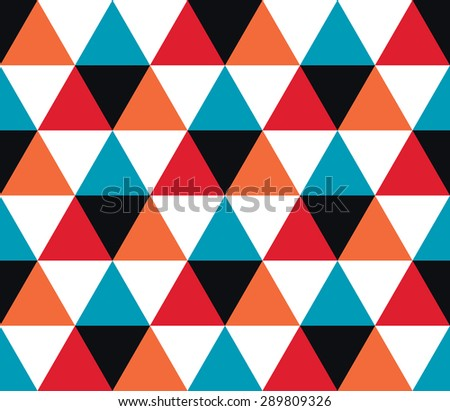 Triangular background. Seamless geometric pattern. Seamless abstract triangle geometrical background. Infinity geometric pattern. Vector illustration.
