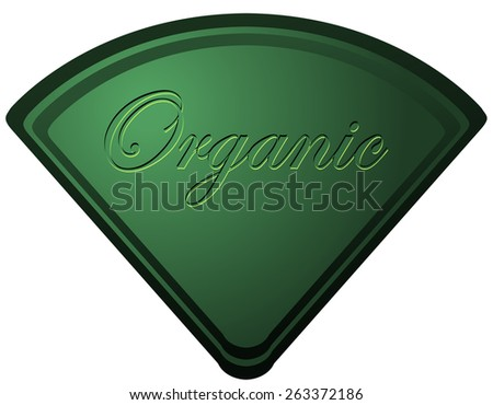 Triangular Organic Sticker Sign, Vector Illustration isolated on White Background.  - stock vector