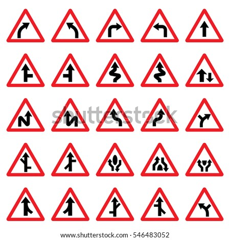 triangular road signs