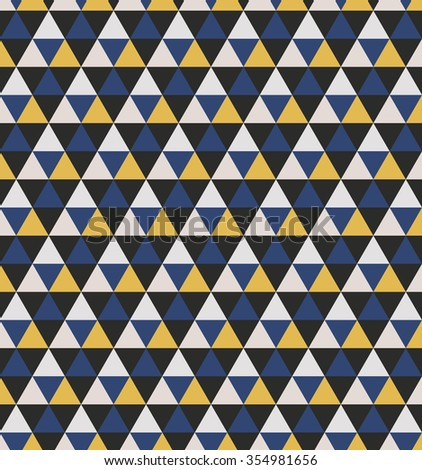 Triangular seamless pattern. Geometric abstract. Polygonal background. - stock vector