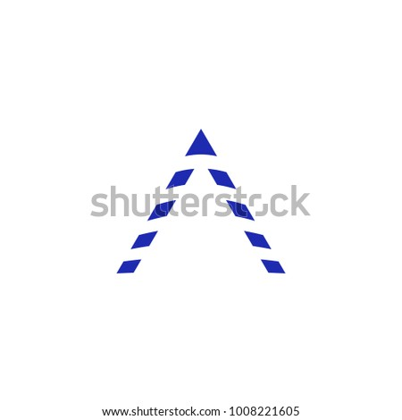 Triangular Symbol Line Segments Vertical Movement Stock Vector