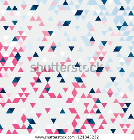 TRIANGULATION SPRING COLORS - stock vector