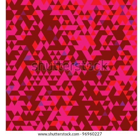 TRIANGULATION WARM COLORS PATTERN - stock vector