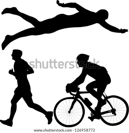 triathlon - vector - stock vector