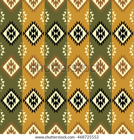 Tribal abstract geometric pattern. Navajo style