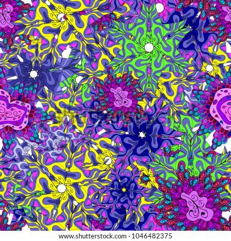 Tribal Art Print Vintage Background Texture Wallpaper Theme In Violet