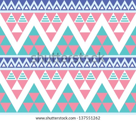 tribal aztec colorful seamless pattern stock vector