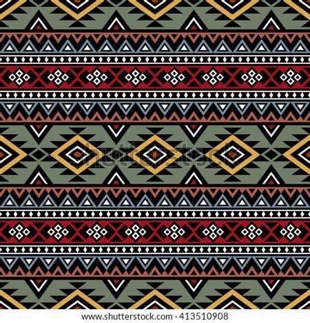 Tribal Aztec Print Template Fabric Paper Stock Photo (Photo, Vector ...