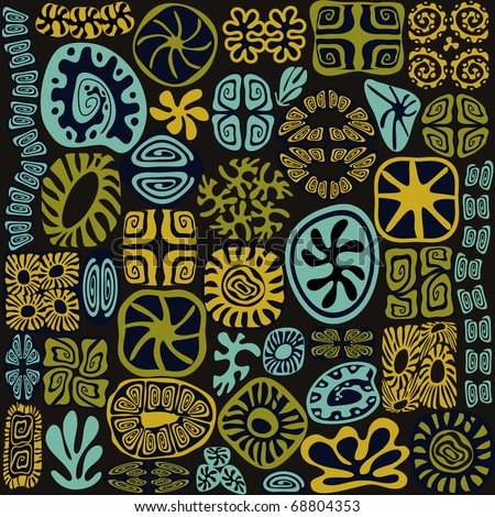 Tribal design elements see life ornate - stock vector