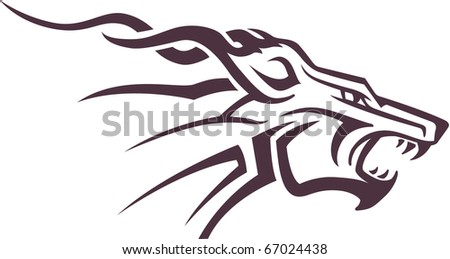 Tribal Dog Design - stock vector