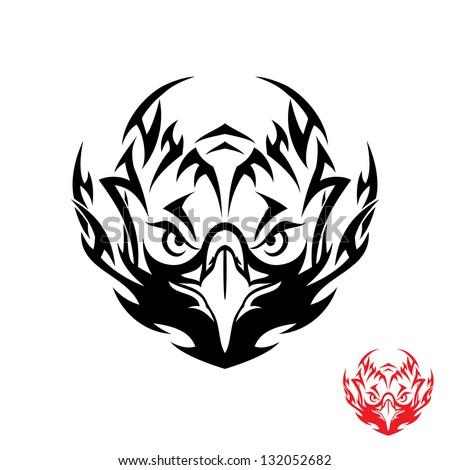 Tribal eagle tattoo - vector illustration - stock vector