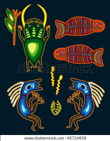 Tribal elements for design - stock vector