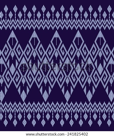 Tribal ethnic.Designs for fabric and printing.Background colorful shape on blue. - stock vector
