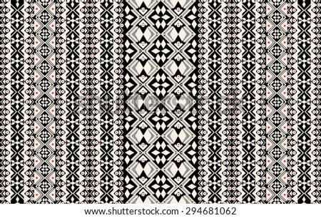 Tribal,ethnic pattern with geometric elements in vector. - stock vector