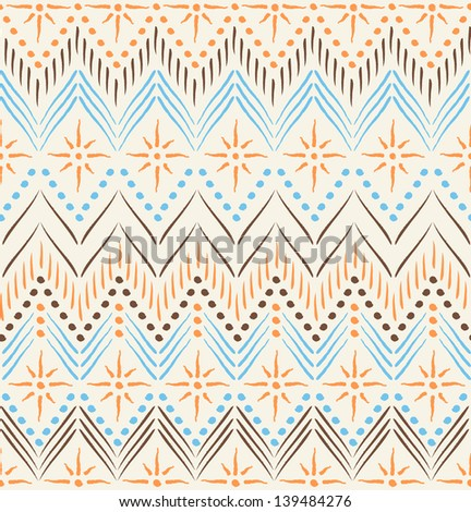 Tribal ethnic seamless pattern - stock vector