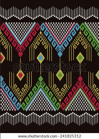Tribal ethnic vector pattern.Abstract beautiful background. - stock vector