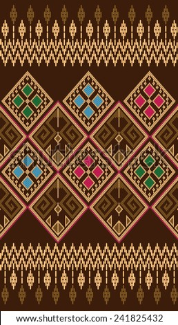 Tribal ethnic vector pattern.Designs for fabric and printing.Background colorful shape. - stock vector