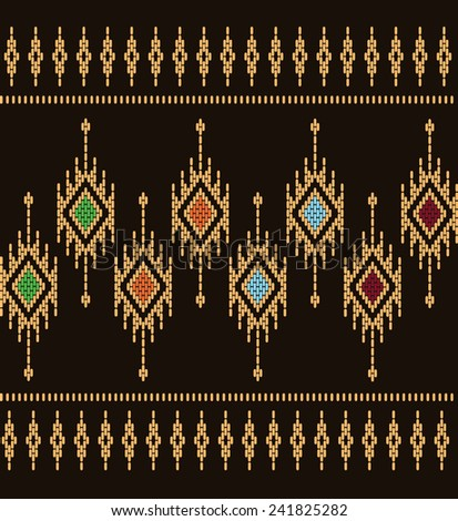 Tribal ethnic vector pattern.Designs for fabric and printing.Beautiful abstract background.